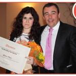 Letizia Capra, best young employer 2013 e Antonio Borri