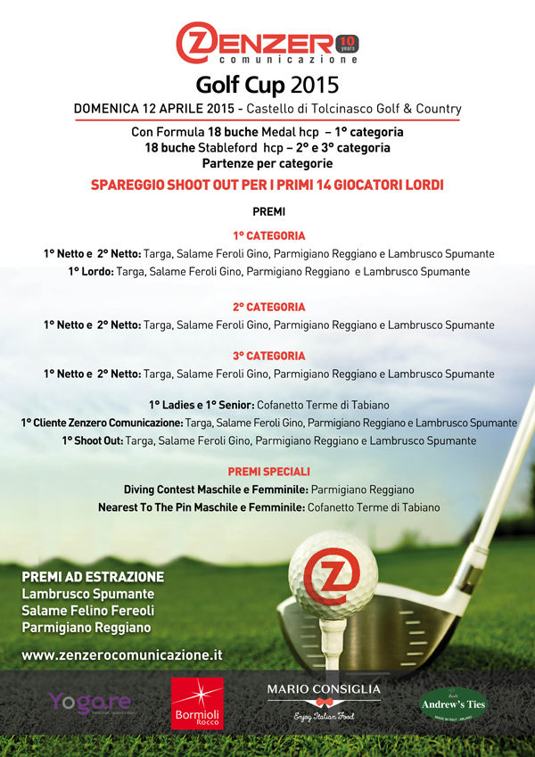 Zenzero Golf Cup 2015 - Tolcinasco