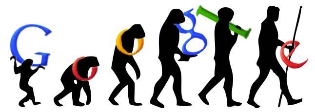 Evoluzione di Google e dell'uomo parallele