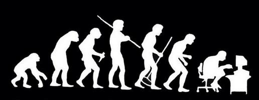 Evoluzione da uomo primitivo a tecnologico