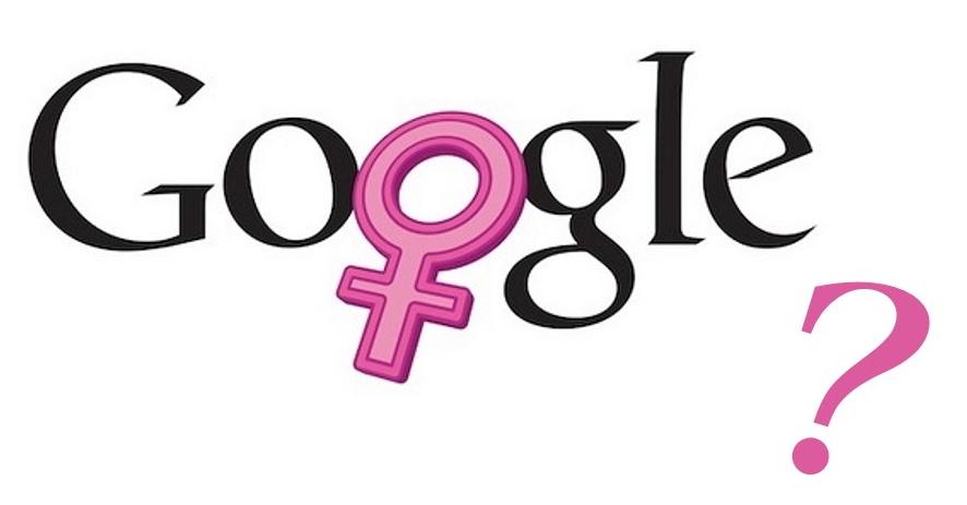 """Logo Google con simbolo femminile al posto della """"o"""""""