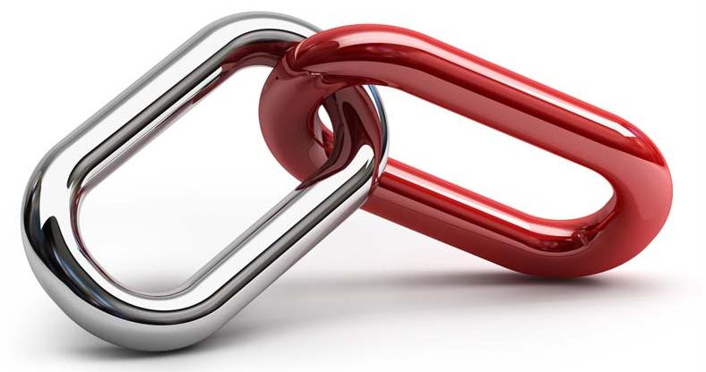 Due anelli di catena uniti