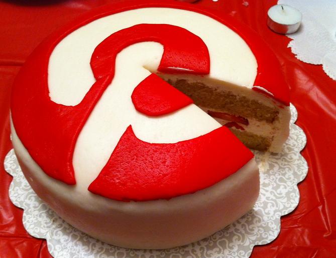 Torta con logo Pinterest