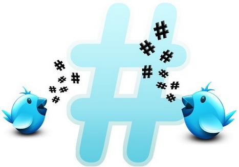 """Uccellini di Twitter con simboli """"#"""""""