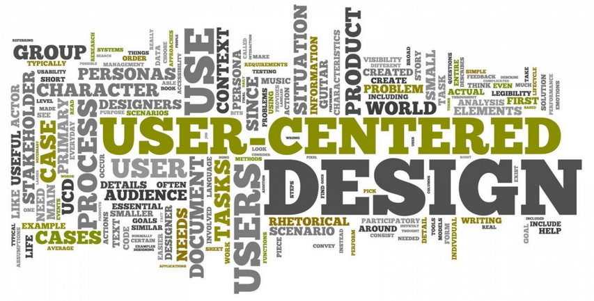 """User Centered Design"" e altre scritte intrecciate"